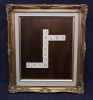 Wooden laser engraved scrabble letters in rustic frame