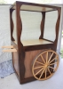 Hardwood drink serving trolley