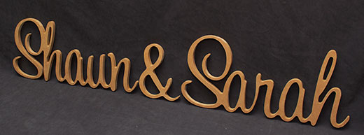 shaun sarah wooden letters
